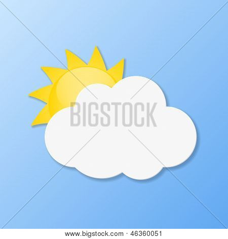 Weather Icons. Fair Weather. Vector Illustration