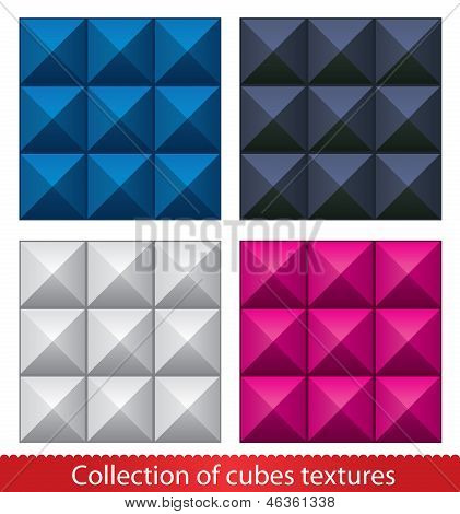 Seamless vector abstract cubes pattern.