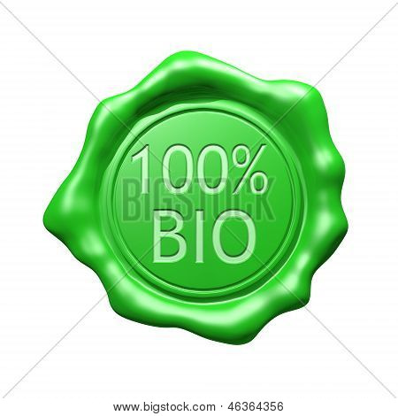 Green Wax Seal - 100% BIO - Isolated