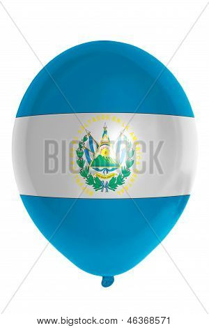 Balloon Colored In  National Flag Of El Salvador