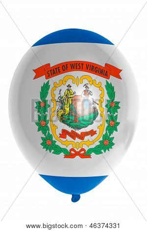Balloon Colored In  Flag Of American State Of West Virginia