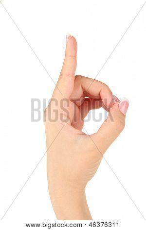 Finger Spelling the Alphabet in American Sign Language (ASL). Letter D