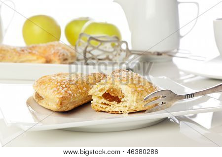 Apple turnovers on coffee table