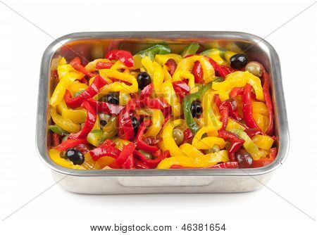 Roasted Peppers With Black Olives