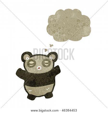 cartoon grumpy panda bear
