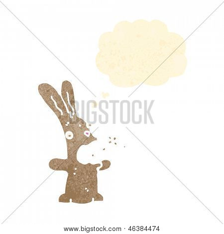 burping rabbit retro cartoon