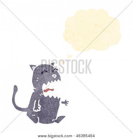 cartoon burping cat gross