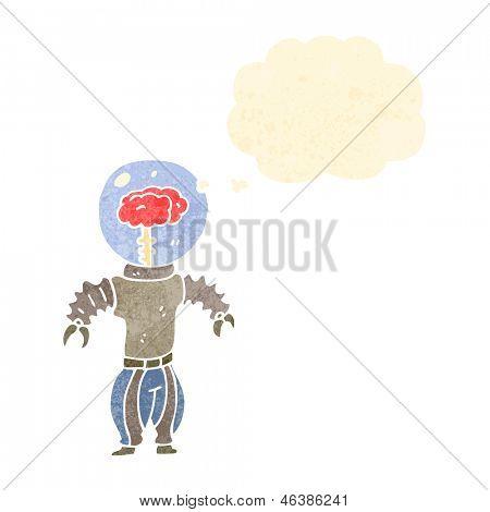 cyborg retrô dos desenhos animados