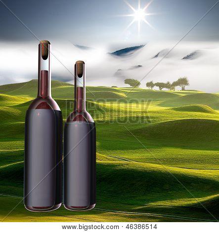 Garrafa de vinho witn bela vista