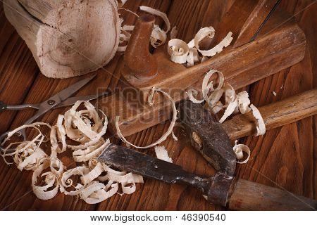 The carpenter hand tools