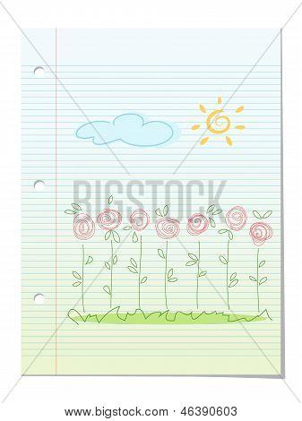 Summer Garden Floral Background