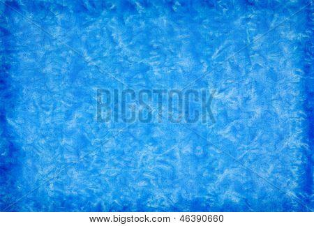 Blue Mottled Grunge Background In Watercolor