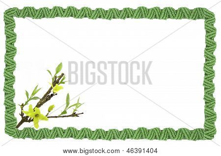 Braided Frame With Flowers
