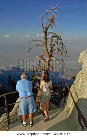 Tourists Looking At Scenic View