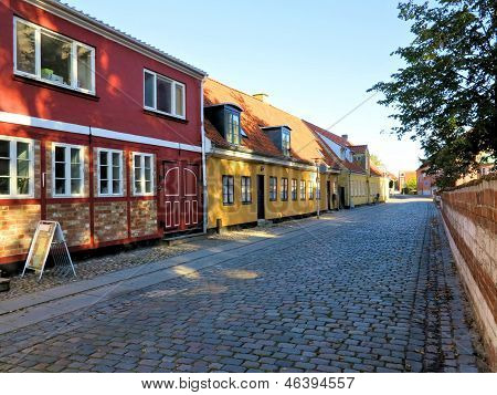 Street With Old House, Koege Denmark