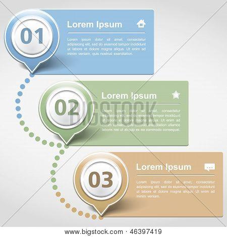 Modelo de design com três Banners