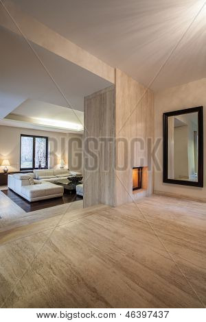 Travertine House: Interior