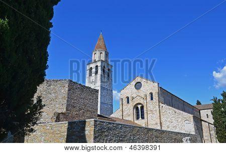 Aquileia basilica and belltower; Italy
