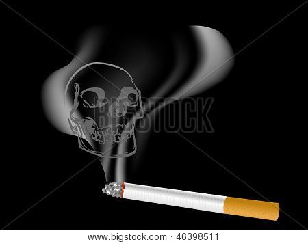 Cigarette With Skull