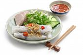 foto of rice noodles  - banh cuon - JPG