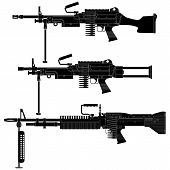 picture of m60  - Layered vector illustration of silhouette Machine Gun - JPG