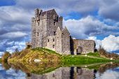 stock photo of castle  - Dunguaire castle near Kinvarra in Co - JPG