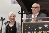 LOS ANGELES - MAY 24:  Olympia Dukakis, Ed Asner at the ceremony bestowing Olympia Dukakis with a St