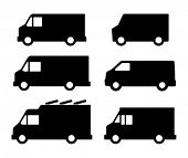 stock photo of moving van  - Truck icon - JPG