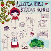 foto of freehand drawing  - Little Red Riding Hood Fairytale  - JPG