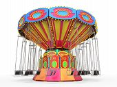 pic of swinger  - Carnival Swing Ride isolated on white background - JPG