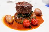 stock photo of chateaubriand  - Tenderloin steak with potato puree - JPG