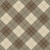 stock photo of tartan plaid  - Seamless vector diagonal plaid pattern in browns and beige - JPG