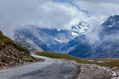 stock photo of himachal  - Road in Himalayas - JPG