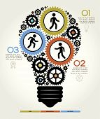 picture of lightbulb  - Modern Business Concept  - JPG