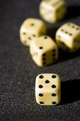 foto of crap  - Close up of Craps on a anthracite background
