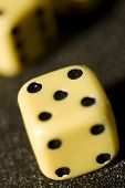 stock photo of crap  - Close up of Craps on a anthracite background - JPG