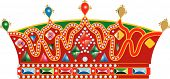 Medieval Slavic Royal Crown poster