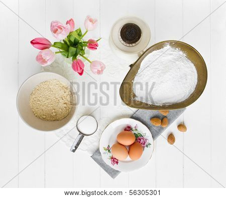 Macaron Ingredients From Above