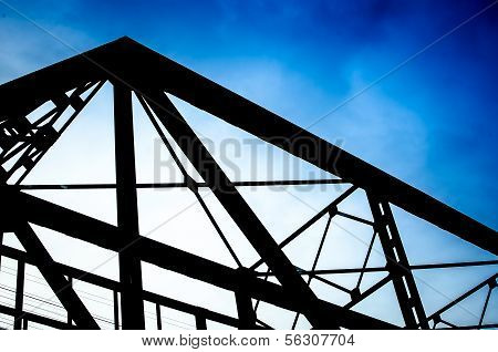 Vintage Metal Bridge For Railroad, Lampang, Thailand.