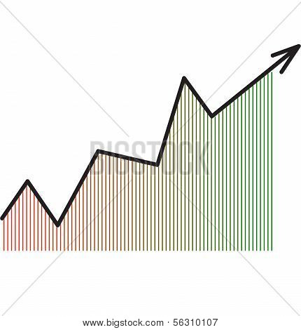 Arrow diagram chart