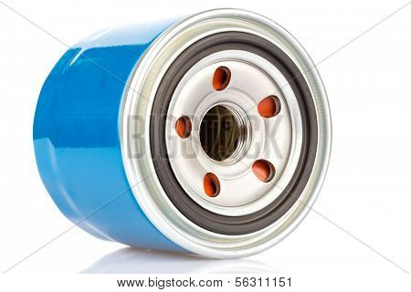 Oil filter for an internal combustion engine isolated on a white background
