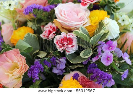 Bouquet With  Different Type Of Flowers