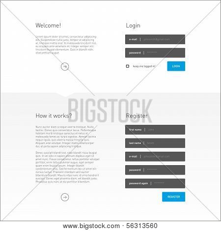 Flat Login and Registration Page Template