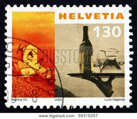 Postage Stamp Switzerland 2000 Church Of St. Saphorin