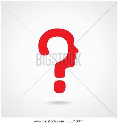 Question Mark Man Head Sign