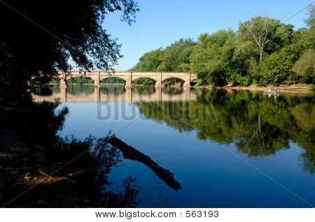 Scenic Aqueduct In Maryland, Usa