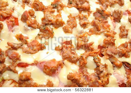 Cooked Sausage Pizza