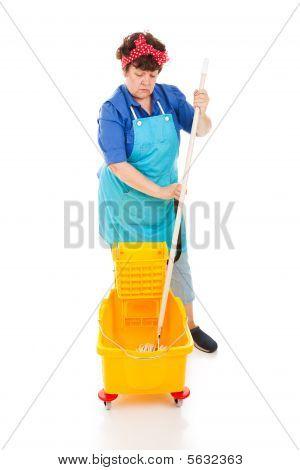 Triste Senhora da limpeza