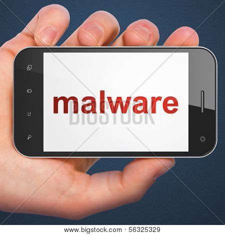 Protection concept: Malware on smartphone