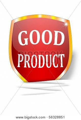 A label indicating the good product